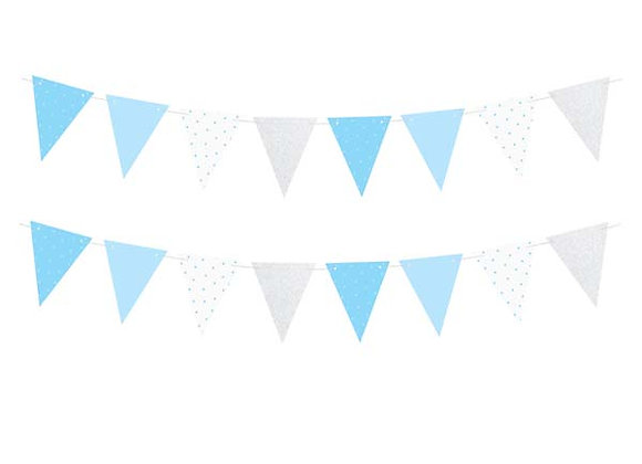 Blue And Silver Bunting