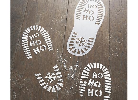 Santa Boot Print Stencils