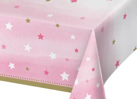 Pink Star Table Cover