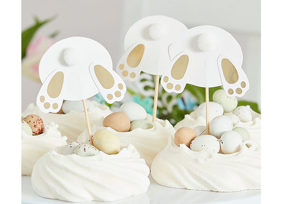 Easter Bunny Cake Toppers (x 6)
