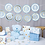 Thumbnail: Blue And Gold Baby Shower  Garland