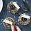 Thumbnail: Gold Wreath Name Place Card Holders