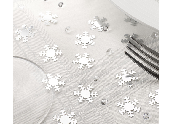 Snowflake Table Confetti And Crystals