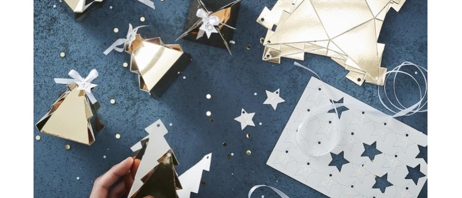 Advent Calendar Kit - Gold Christmas Trees