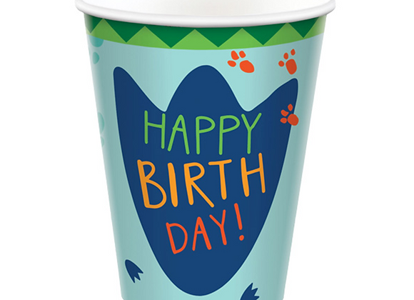 Dino-mite paper cups (x 8)