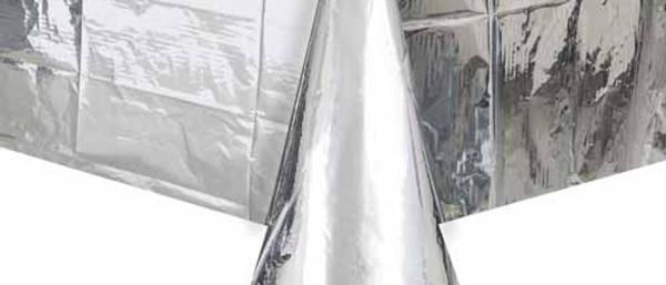 Metallic Silver Table Cover