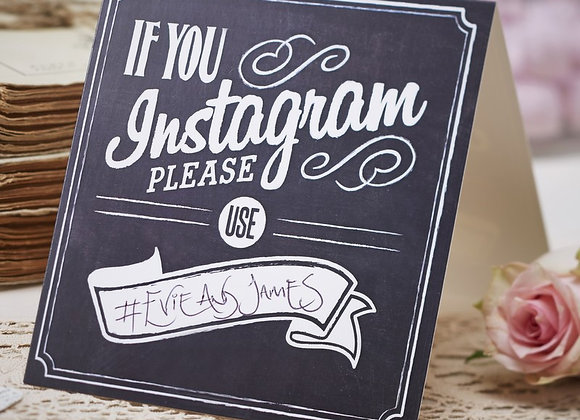 If You Instagram Table Tent Cards