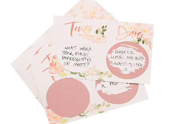 Truth Or Dare Hen Party Scratch Card Game