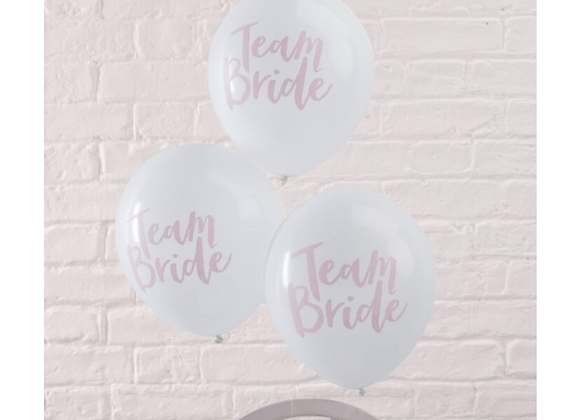hen party balloons, team bride balloons, hen party decorations, pink hen party decorations, team bride by ginger ray