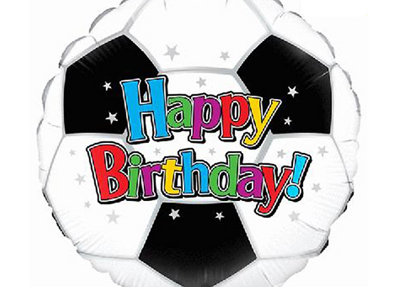 "Inflated Football Happy Birthday 18"" Balloon"