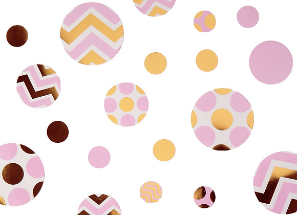 Pink & Gold Table Confetti