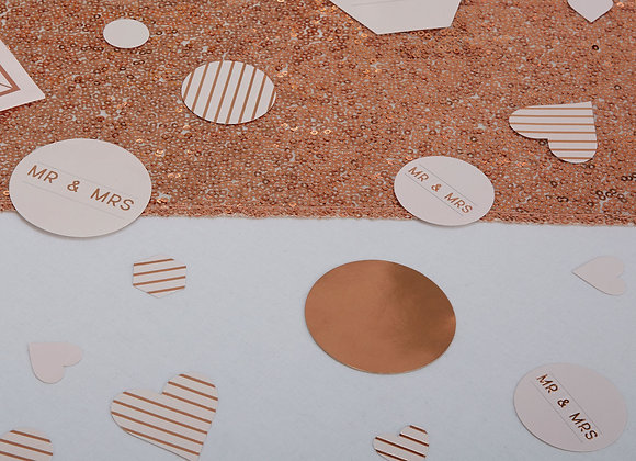 Rose Gold Wedding Table Confetti