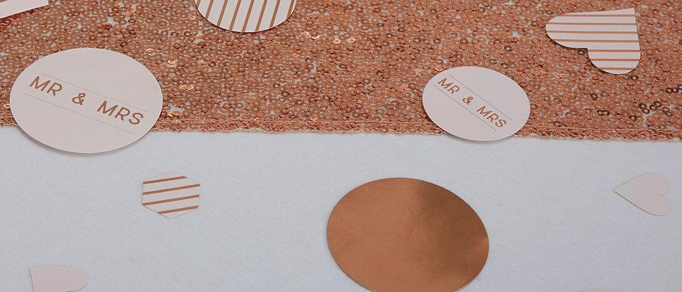 Rose Gold Wedding Table Confetti