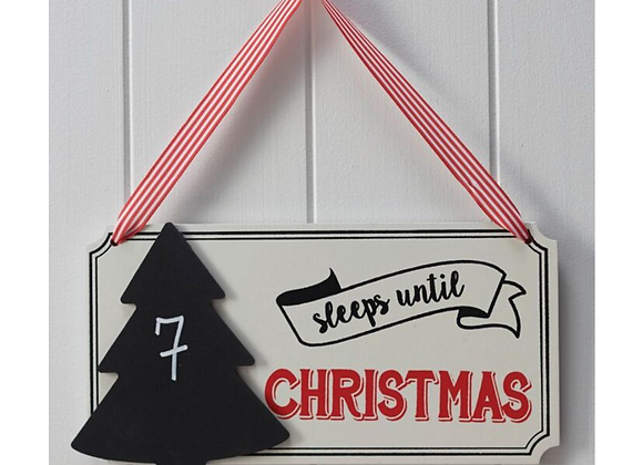Christmas countdown sign, days until Christmas sign, Christmas countdown vintage sign