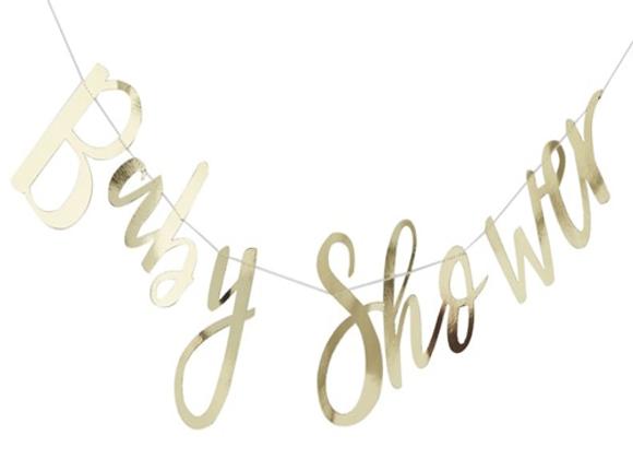 Gold Baby Shower Garland