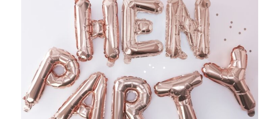 hen party decoration, hen party balloon, rose gold hen party decoration, decoration for a hen party, team bride Ginger Ray