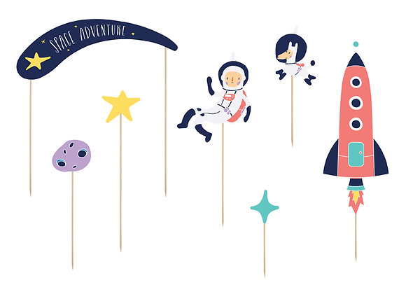 Space Cake Toppers