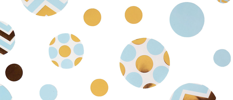 Blue And Gold Table Confetti