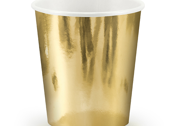 Gold Paper Cups x 6
