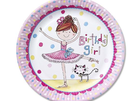 Rachel Ellen Ballerina Plates  (x 8)