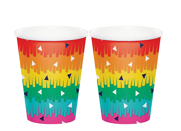 rainbow party paper cups, cups for a rainbow party, paper cups for rainbow party, cups for a summer party