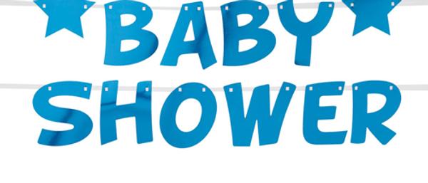 Blue Baby Shower Garland
