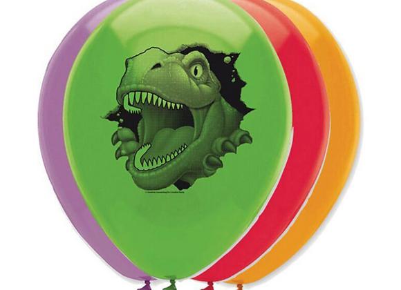 balloons for a dinosaur party, dinosaur themed balloons, dinosaur party decorations