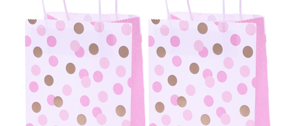 Pink And Gold Dots Party Bags (x 4)