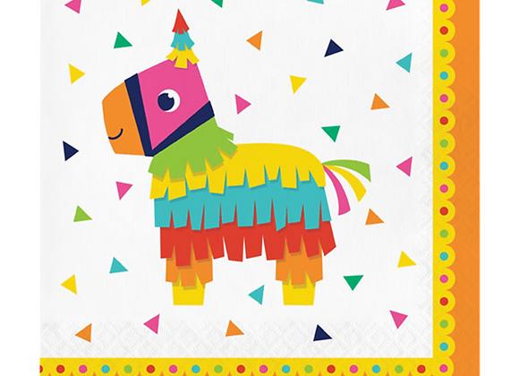 Rainbow Llama Paper Napkins (x 16)