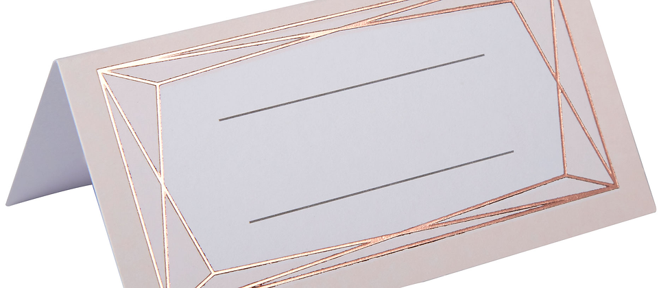 Rose Gold Design Place Cards