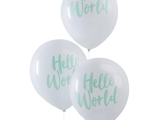 Hello World Balloons