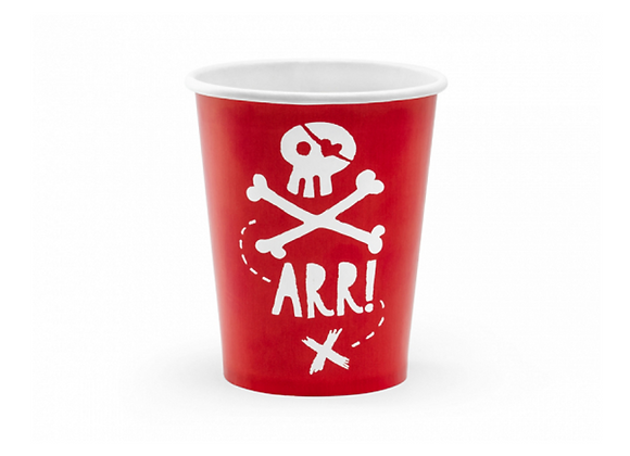 Pirate Party Cups (x 6)