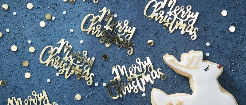 Gold Merry Christmas Table Confetti