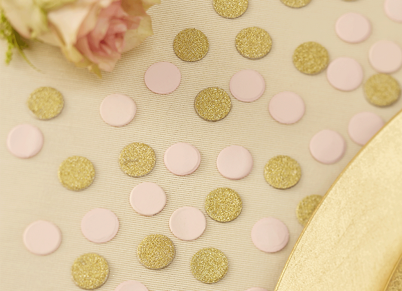 Gold And Pink Glitter Table Confetti