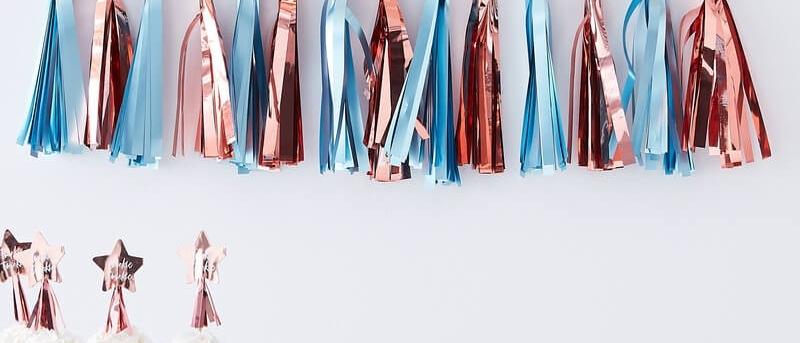 Matte Blue  And Rose Gold Tassel Garland Kit