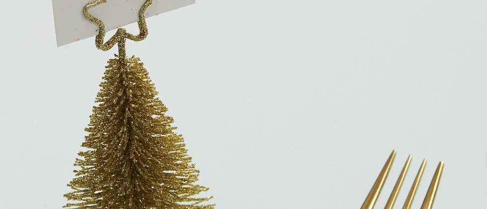 Gold Tree Shaped Place Card Holders