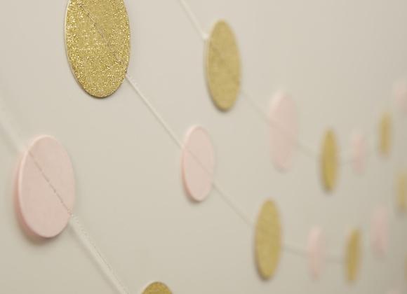 Pink And Gold Circle Garland