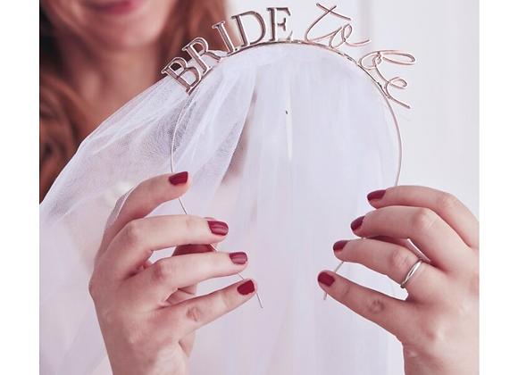 bride to be hen party accessories, team bride blush, bride to be headband
