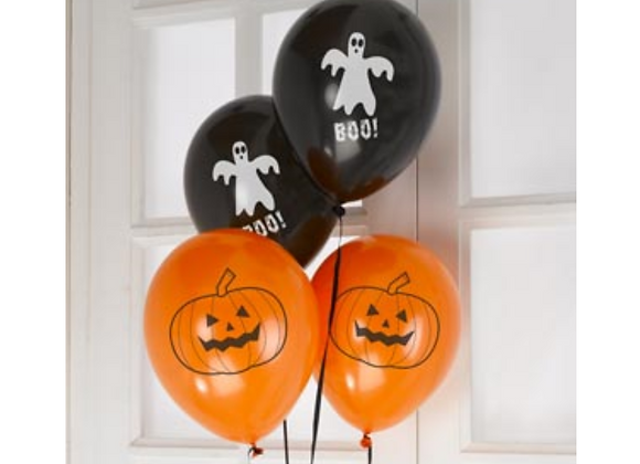 Happy Halloween Balloons x 8