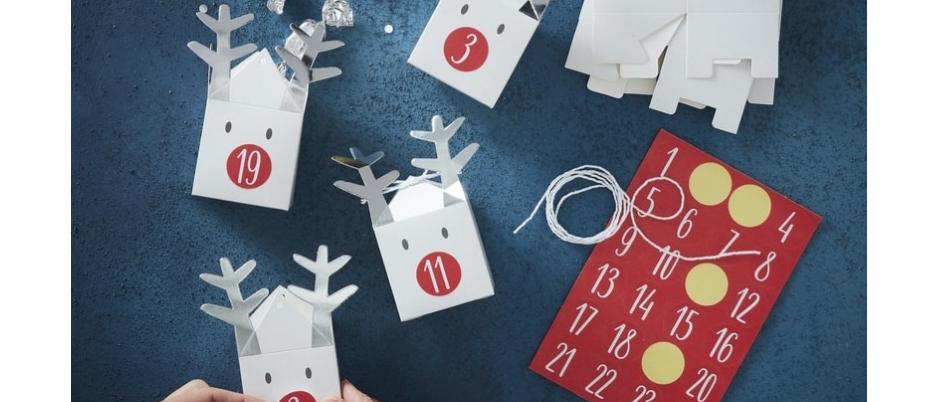 Advent Calendar Kit - Silver Reindeer