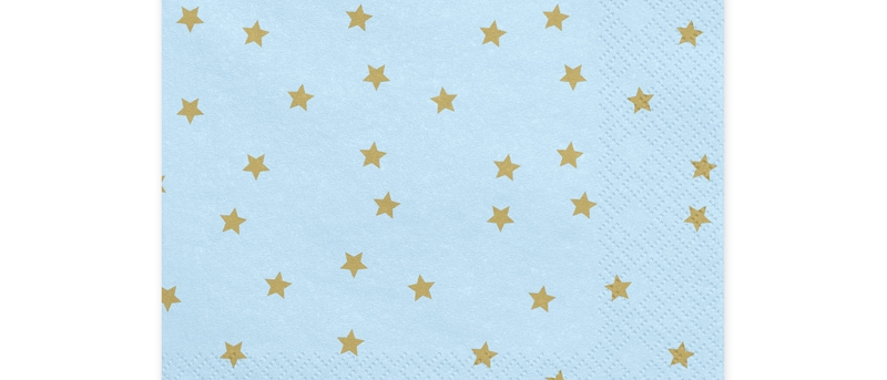 Blue And Gold Star Napkins