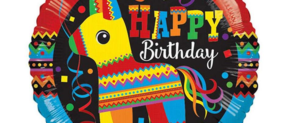 llama party, rainbow party, summer party balloons