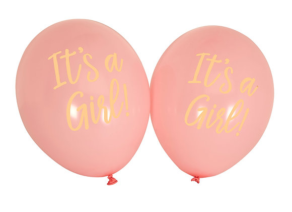 It's A Girl Pink Balloons
