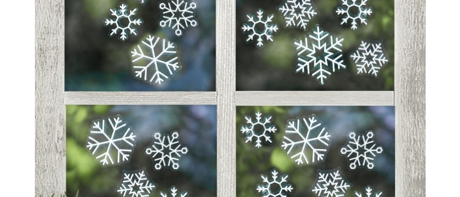 Snowflake Window Stickers