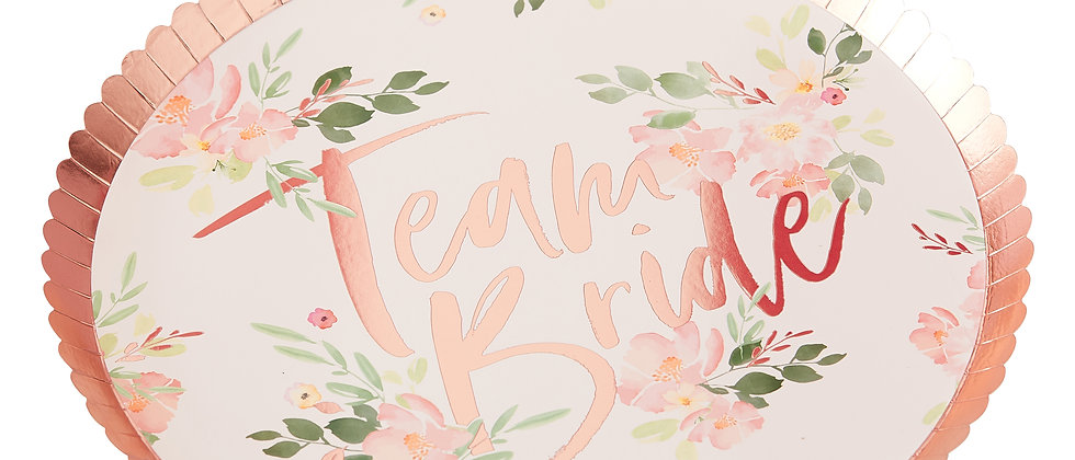 Floral Team Bride Plates