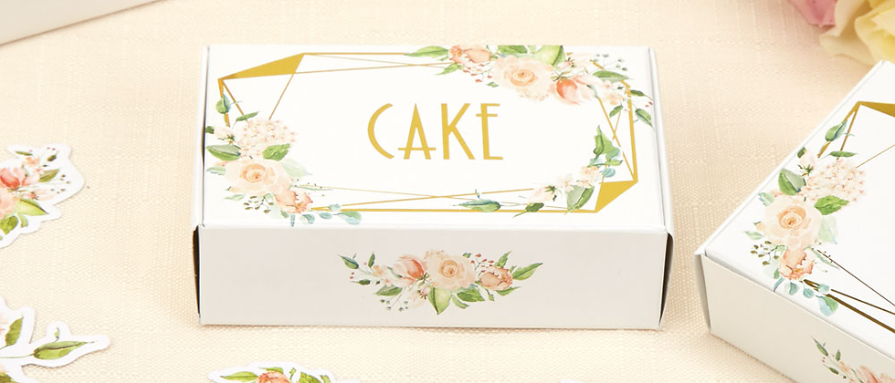 Floral And Gold Cake Boxes