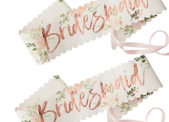 Floral Bridesmaid Sashes