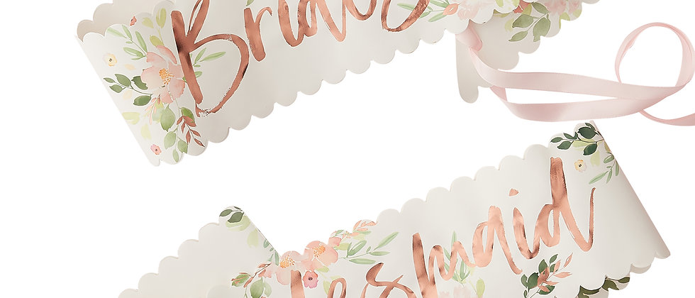 Floral Bridesmaid Sashes