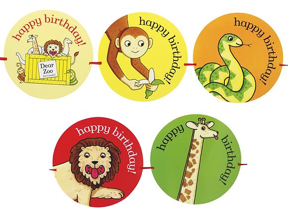 Dear Zoo Happy Birthday Banner