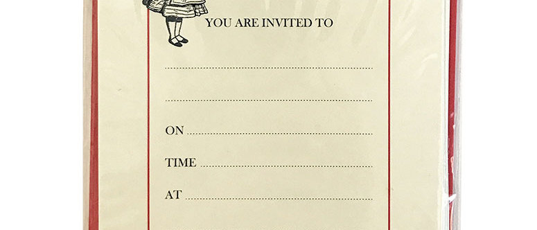 Alice Tea Party Invitations